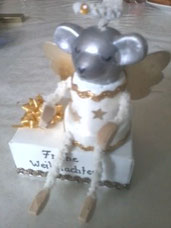 Weihnachtsgruß Maus