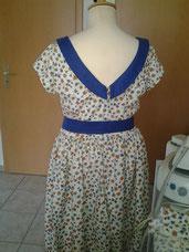 Kleid 50th Style Rückenansicht
