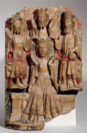 Couronnement de la Vierge, albâtre anglais, XVe siècle, Musée de Cluny / Photo RMN
