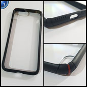 CREED Sphere Schutzhülle für Apple iPhone 7 – Smartphone-Case mit Rahmen aus Soft-TPU und fester Rückseite – doppelter Kantenschutz [C.I.S.S.] doppelter Kameraschutz iPhone 7 Cover in schwarz [Deep Black]