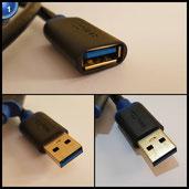 deleyCON [1,5m] USB 3.0 Super Speed Kabel - USB 3.0 Verlängerungskabel - USB A-Stecker zu USB A-Buchse - bis zu 5Gbit/s - geschirmtes, flexibles PREMIUM USB 3.0 Kabel - abwärtskompatibel zu USB 2.0 / USB 1.1