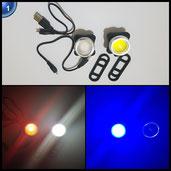 Agapo Wiederaufladbare LED Fahrradlampe Set COB Frontlicht und Rücklicht 450lm