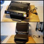 Tefal GC7148 Optigrill plus Snacking und Baking, automatische Anzeige des Garzustandes, 6 voreingestellte Grillprogramme, 2000 W, schwarz