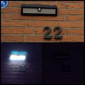 LED Solarleuchten, Melojoy 44 LED Sehr Helle Drahtlose Solar Wandleuchte Wetterfeste, Solar Außenleuchte mit Bewegungsmelder [3 Intelligente Modi]