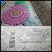 Idena 68146 - Malbuch für Erwachsene, Motiv Harmonie, inklusive 12 Buntstifte