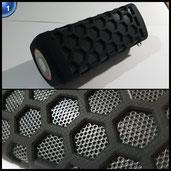Hapyia Wireless Tragbarer Bluetooth Lautsprecher Wasserdicht IPX4 mit Energienbank, 7000mAh Aufladbarer Batterie, 3.5 Stereoeingang und Social-Modus Funktion, Extrem kraftvoller Sound und Bass(Schwarz)