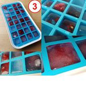 Levivo Silikon Eiswürfelform für 32 Eiswürfel, 27 x 14 x 2,9 cm, Blau (vorher Lavario)
