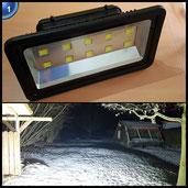 LAPUTA LED Fluter Strahler Außenleuchte Scheinwerfer für Beleuchtung von Parkplätzen (IP66 Schutzklasse,500 Watt,50000 Lumen,Wassergeschütztes Alu-Gehäuse) kaltweißes Licht [Energieklasse A++]
