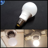 LED Birne 9W ThorFire A60/E27 Globe Blub 60W-Äquivalent 2700K Warm Weiß Lampe [Energieklasse A +] 230V 810lm 6 Pack