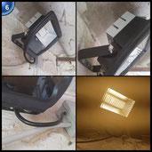 ProGreen NEUE Generation LED Flutlicht, schwarz, 30w, 3000k Warmweiß, 2500lm, wasserdicht IP65, nicht dimmbar, LED Flutlichtstrahler, Außenstrahler, LED Scheinwerfer, LED Außenleuchten [Energieklasse A+]