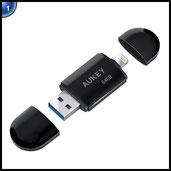 AUKEY iPhone USB Stick 64 GB mit USB 3.0 Schnittstelle [Apple MFi Zertifiziert] Lightning Flash Drive für iPhone / iPad / Macbook / PC