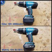 Odec 18v 4000mAh Li-ion Werkzeug Akku Ersatzakku für Makita 194205-3, BL1830, BL1815, BL1840, BL1850, LXT400
