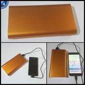 Jackery Titan 20100mAh Externer Akku - Panasonic Zelle und Alu-Schale extrem hohe Kapazität 2-Port 3.4A Output Power Bank Ladegerät mit Smartfit Technologie für iPhone, iPad, Samsung Galaxy und weitere (Orange)