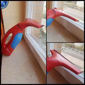 Vileda Windomatic Fenstersauger mit Spray Einwascher