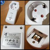 AUKEY Funksteckdosen Set aus 3 Funksteckdosen und 1 Fernbedienung, AC 175V - AC 276V, Bis zu 30M Bedienungsbereich, Fern ein/ausschalten Computer, Fernseher usw.
