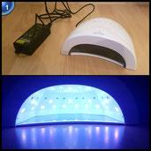 LONGKO 48W 24W Dual-Licht UV/LED Lichthärtungsgerät Nageltrockner für Gel und Gellack UV-Gerät LED-GerätUV-Lampe LED-Lampe Fingernägel Zehennägel Schnelle Trocknung mit Timer und Lüfter weiß