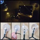 Salcar 5 Meter Solar LED Lichterkette 20-Kugeln Deko Beleuchtung für Weihnachten Party Festen (Warmweiß) [Energieklasse A++]