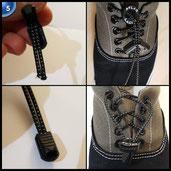 Atlas Laces 3-PACK - Elastische Schnürsenkel m. Schnellschnürsystem – Die perfekten Schuhbänder & Schnellverschluss für Marathon und Triathlon Athleten, Kinder, Senioren, etc. (3 Paar - Schwarz)