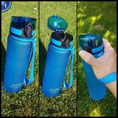 AVOIN colorlife Sport-Wasser-Flasche - 500ml&1000ml - verschiedene Farbenauswahlen - BPA frei/Ungiftig& Umweltfreundlicher Tritan Kunststoff - Klappbarer auslaufsicherer Deckel mit einem Klick zu öffnen