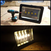 VINGO® 200W LED Fluter Außen Strahler Flutlicht Scheinwerfer Warmweiß Baustrahler IP65 [Energieklasse A++]