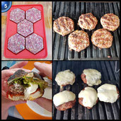 MUZIYU Burger Master Silikon Burgerpresse Perfekte für Burger, Hamburger, Cheeseburger, Frikadellen, Patties, antihaftbeschichtet