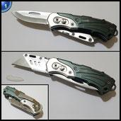KWB Universalmesser 016921 (mit 2 Klingen, Taschenmesser und Cuttermesser, klappbar), 1 Stück, Ohne Ersatzklinge