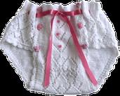 Bombacha o calzón para bebe tejido en dos agujas o palitos!
