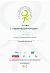 Tai Chi Zertifikat
