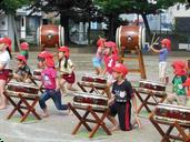 運動会和太鼓練習風景(4号公園)