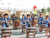 九合地区の文化祭(和太鼓)