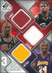 JORDAN  KOBE  LEBRON / 3 Star Swatches - No. 3S-JBJ  (#d 227/299)