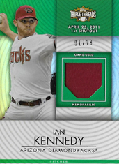 IAN KENNEDY / Game-Used Memorabilia - No. TTUR-192  (#d 1/18) !!!6€ !!!
