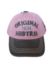 Kappe Original Austria, pink-grau
