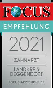 2021 Zahnarzt Landkreis Deggendorf © FOCUS