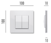 dimensions of the switch on the wall mounting frame