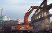 услуги демонтажа здания гидроножницами