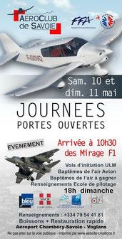 Mirage F1 à Chambery JPO Aeroclub de Savoie 2014
