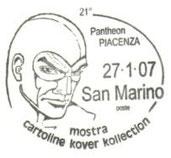 Annullo San Marino 21° Pantheon Piacenza