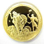 K22 22金 20ユーロ 金貨 コイン デビッド&ゴリアテ ヨハネパウロ 2 世 バチカン 2004年