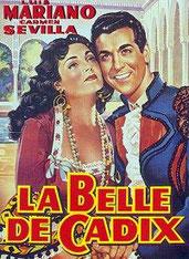 Affiche de La belle de Cadix avec Luis Mariano