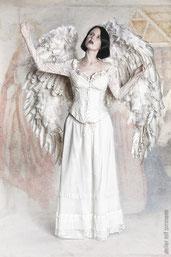 Ravienne Art Model - Foto, Engel, Brautkleid, Flügel, Weihnachten