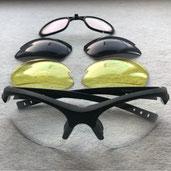 Radbrille mit auswechselbaren Gläsern