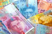 Geldnoten in schweizer Währung