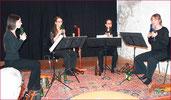 La Merula Blockflöten-Quartett, Konzert zum Advent 2015, Aline Burla, Maria Hänggi, Anja Kaufmann u. Nicole Meule, Foto: Annemarie Schläpfer