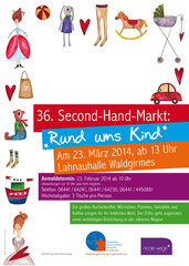 Plakat zum Second Hand Markt in Waldgirmes
