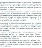 article du Parisien à propos des Doubles-sens cyclables à Beauvais