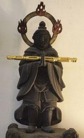 稚児行列の専養寺にてお祀りされている韋駄天様です