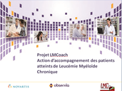 Projet LMCoach lmc france education therapeutique patient Soutien institutionnel unique Laboratoire Novartis Promoteur Association LMC France observia