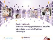 Projet LMCoach lmc france education therapeutique patient Soutien institutionnel unique Laboratoire Novartis Promoteur Association LMC France observia