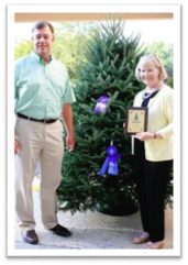 John and Virginia Carroll, owners Claybrooke Christmas Tree Farm